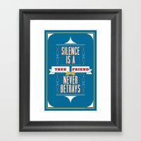 Silence Is Framed Art Print