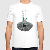 Antennas Mens Fitted Tee White SMALL