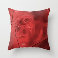 The Red Skull Throw Pillow