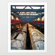 Back & Forth Bridge Art Print