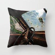 Junkyard Truck. Throw Pillow