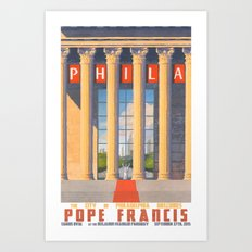 Philadelphia Welcomes Pope Francis Art Print