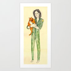Ellen Ripley With Jones … Art Print