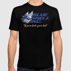Mario Kart: Blue Shell Inc. SMALL Mens Fitted Tee Black