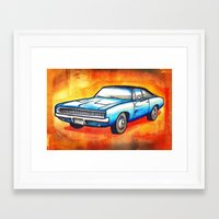 '68 Charger Framed Art Print