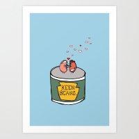 Art Print featuring Keen Beans by Laura Cartwright