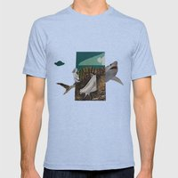 Shark Mens Fitted Tee Tri-Blue SMALL