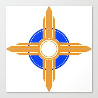 New Mexico Zia - Blue Canvas Print