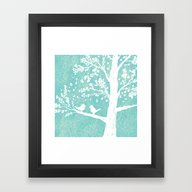 Framed Art Print featuring Birds In A Tree by Jason Vallas