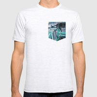 Riding Backwards Mens Fitted Tee Ash Grey SMALL