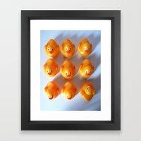 Rubber Ducks in a Row Framed Art Print