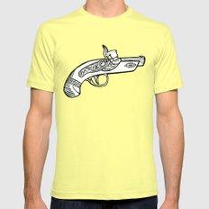 One shot Derringer, one shot gettin ya Mens Fitted Tee Lemon SMALL