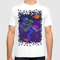 Dragonflies And Astronau… Mens Fitted Tee White SMALL