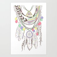 Tribal Necklace Art Print