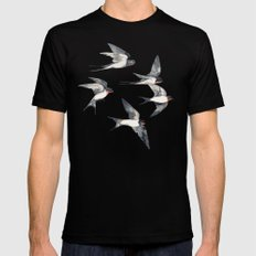 Blue Sky Swallow Flight SMALL Black Mens Fitted Tee