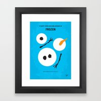 No396 My Frozen Minimal … Framed Art Print