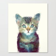 Canvas Print featuring Cat // Aware by Amy Hamilton