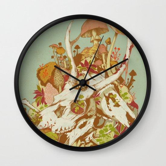 skulls in spring Wall Clock