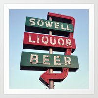 Sowell Beer And Liquor (… Art Print