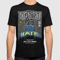 Post-Punk Bat: Control Mens Fitted Tee Tri-Black SMALL