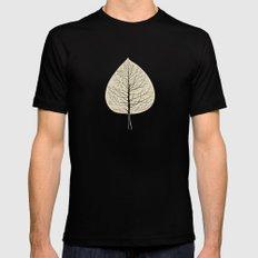 Tree-leaf Mens Fitted Tee Black SMALL