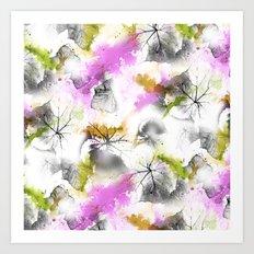 Leafy pattern Art Print