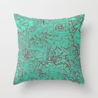 Aumcolored Throw Pillow
