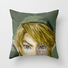 Triangles Video Games Heroes - Link Throw Pillow