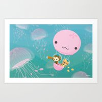 The Octonauts Jellyfish Balloon Art Print