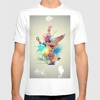 Siegessäule Abstract Mens Fitted Tee White SMALL