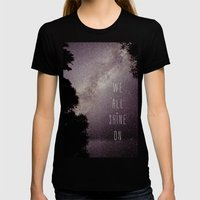 We All Shine On Womens Fitted Tee Black SMALL