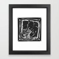 Elefante Col Caffe' Framed Art Print