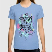 Owl Womens Fitted Tee Tri-Blue SMALL