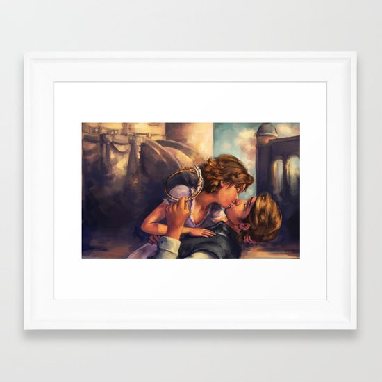 A Kiss for Corona Framed Art Print