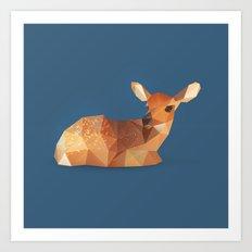 Fawn. Art Print