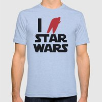 I Heart Star Wars Mens Fitted Tee Athletic Blue SMALL