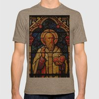 Saintly Glass #2 Mens Fitted Tee Tri-Coffee SMALL