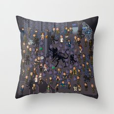 Super Aliens³ Resurrection Throw Pillow