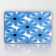 Soothing Blue Flowers Laptop & iPad Skin