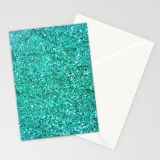 TEAL GLITTER  Stationery Cards