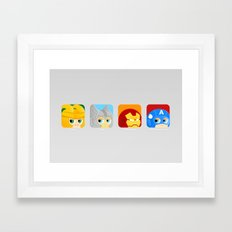 Avengers icon :) Framed Art Print