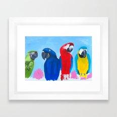 Family of 4 Framed Art Print