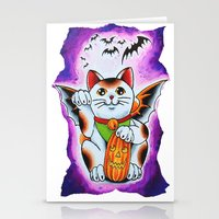 Halloween Cat Stationery Cards