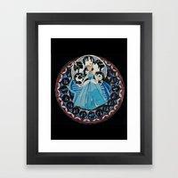 Paper fairytale window Framed Art Print