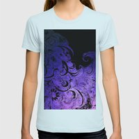Purple Wave Womens Fitted Tee Light Blue SMALL