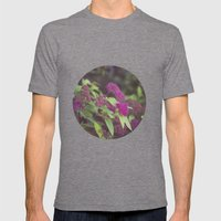 purple flower. Mens Fitted Tee Tri-Grey SMALL