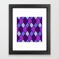 Big Harlequin Purple_Multi Framed Art Print