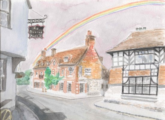 Rainbows come After the Rain Art Print