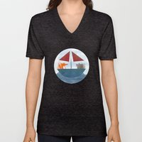 Fox & Wolf In A Tub Unisex V-Neck