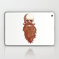Beard Skull 2 Laptop & iPad Skin